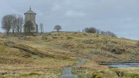 Igreja de pedra velha em Noruega Fotografia de Stock