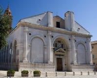 Igreja de Rimini, Italy imagem de stock
