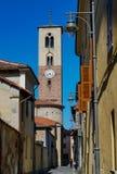 A igreja de Rivarolo Canavese imagem de stock
