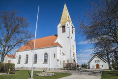 Igreja de Rolvsøy (noroeste) fotografia de stock