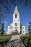 Igreja de Rolvsøy (oeste) (4) Foto de Stock Royalty Free
