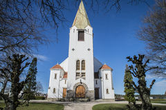 Igreja de Rolvsøy (oeste) (4) Fotos de Stock Royalty Free
