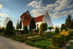 Igreja de Rosted em Dinamarca Foto de Stock Royalty Free