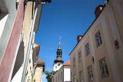 Igreja de São Nicolau em Estónia fotos de stock