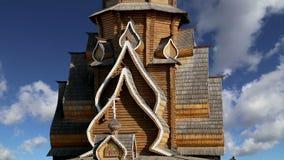 Igreja de São Nicolau no Kremlin do Kremlin de Izmailovsky em Izmailovo, Moscou, Rússia video estoque