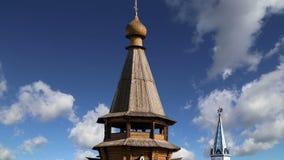 Igreja de São Nicolau no Kremlin do Kremlin de Izmailovsky em Izmailovo, Moscou, Rússia vídeos de arquivo