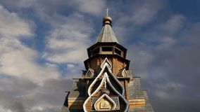 Igreja de São Nicolau no Kremlin do Kremlin de Izmailovsky em Izmailovo, Moscou, Rússia filme