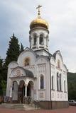 Igreja de São Nicolau no pagamento Lazarevskoe, Sochi Foto de Stock