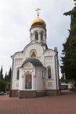 Igreja de São Nicolau no pagamento Lazarevskoye, Sochi Imagem de Stock Royalty Free
