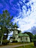 A igreja de São Nicolau o Wonderworker em Imatra fotos de stock
