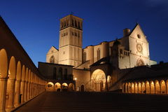 Igreja de S Francis iluminada Fotografia de Stock