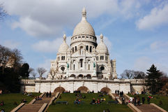 Igreja de Sacre Coeur em Paris Fotografia de Stock