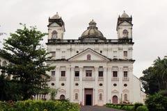 A igreja de Saint Cajetan do providência Divine de Goa idoso, mim foto de stock