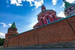Igreja de Saint John Chrysostom no monastério de Staraya Ladoga Nikolsky, região de Ladoga velho, Leninegrado, Rússia fotos de stock