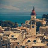 Igreja de Saint Spyridon de Trimythous, cidade de Corfu Imagens de Stock Royalty Free