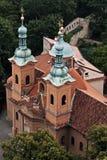 Igreja de Saint Vavrinec, Praga imagem de stock