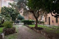 A igreja de San Cosimato em Roma Imagem de Stock Royalty Free