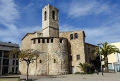 Igreja de San Cristobal em Cunit, Espanha imagens de stock