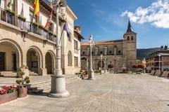 Igreja de San Eutropio no EL Espinar na província de Segovia no parque natural do ³ n de Guadarrama Castilla y LeÃ, Espanha foto de stock royalty free