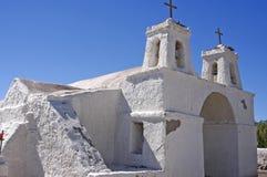 Igreja das montanhas. O Chile fotografia de stock royalty free