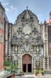Igreja de San Francisco, rua de Madero, Cidade do México Imagens de Stock
