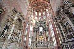 A igreja de San Giovanni e Paolo para dentro, Veneza Fotografia de Stock