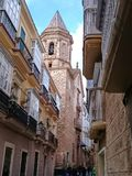 Igreja de San Lorenzo em Cadiz Fotografia de Stock Royalty Free