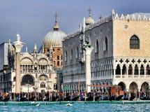 Igreja de San Marco e palácio do Doge, Veneza Imagem de Stock