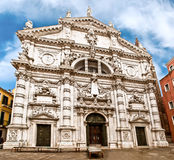 Igreja de San Moisè em Veneza, Italia imagem de stock