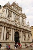 Igreja de San Moise em Veneza, Itália foto de stock