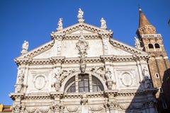 Igreja de San Moise, em Veneza, Itália fotos de stock
