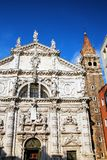 Igreja de San Moise em Veneza, Itália fotos de stock