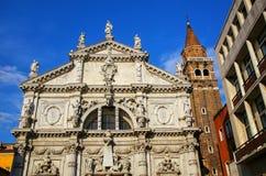 Igreja de San Moise em Veneza, Itália foto de stock royalty free