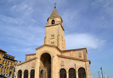 Igreja de San Pedro em Gijon, Espanha Foto de Stock Royalty Free