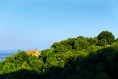 Igreja de San Roque na montanha de Pagasarri Imagem de Stock
