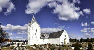 Igreja de Sankt Clemens na ilha Romo fotos de stock royalty free