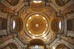 A igreja de Sant'Agnese em Agone, praça Navona, Roma Fotos de Stock