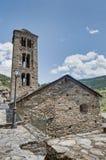 Igreja de Sant Climent no amigo, Andorra foto de stock