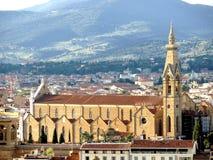 A igreja de Santa Croce em Florença fotos de stock