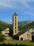 Igreja de Santa Eulalia, Erill-la-Vall (Spain) imagem de stock