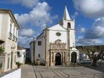 Igreja de Santa María, Ãbidos - Portugal Imagen de archivo