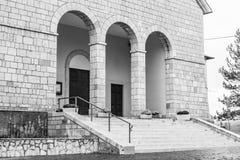 Igreja de Santa Maria Assunta, Roccaraso, Abruzzo, Itália Octobe Fotografia de Stock