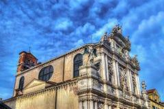 Igreja de Santa Maria del Giglio em Veneza no hdr imagens de stock royalty free