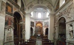 Igreja de Santa Maria della Pace em Roma fotografia de stock