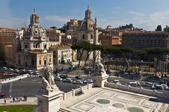 Igreja de Santa Maria di Loreto em Roma fotografia de stock