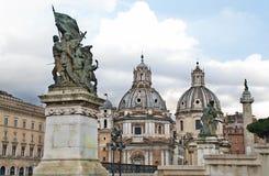 Igreja de Santa Maria di Loreto em Roma, Itália fotos de stock