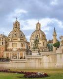 Igreja de Santa Maria di Loreto, Roma, Itália imagem de stock