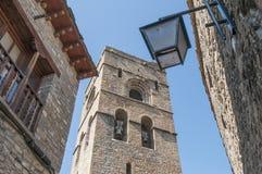 Igreja de Santa Maria em Ainsa em Aragon, Spain Fotografia de Stock Royalty Free