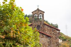 Igreja de Santa Maria Magdalena de la Rebollada Rebollada, as Astúrias Fotos de Stock Royalty Free