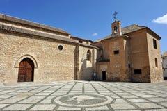 Igreja de Santiago Apostle, Ciudad Real, Espanha imagem de stock